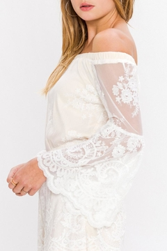 Jealous Tomato White Lace Romper - Alternate List Image