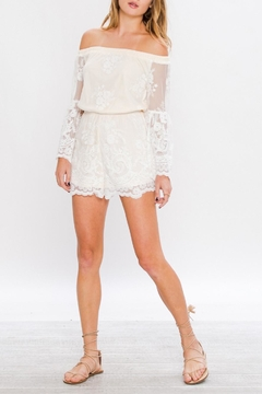 Jealous Tomato White Lace Romper - Product List Image