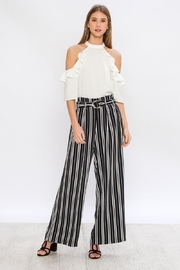Jealous Tomato Wide Striped Pants - Front full body