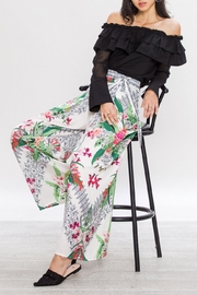 Jealous Tomato Wrap Flowing Pants - Back cropped