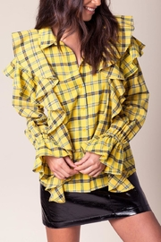 Jealous Tomato Yellow Plaid Shirt - Product Mini Image