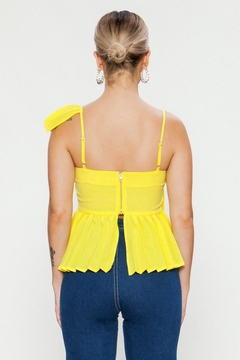 Jealous Tomato Yellow Pleated Top - Alternate List Image