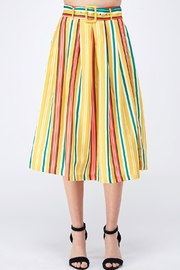Jealous Tomato Yellow Striped Skirt - Product Mini Image