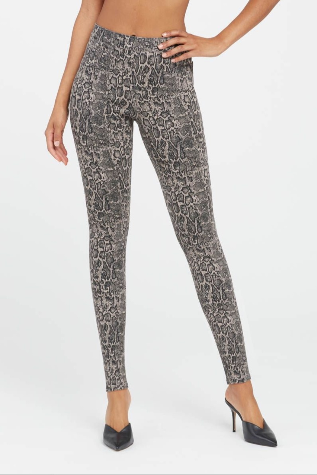Spanx Jean-ish Ankle Leggings - Side Cropped Image