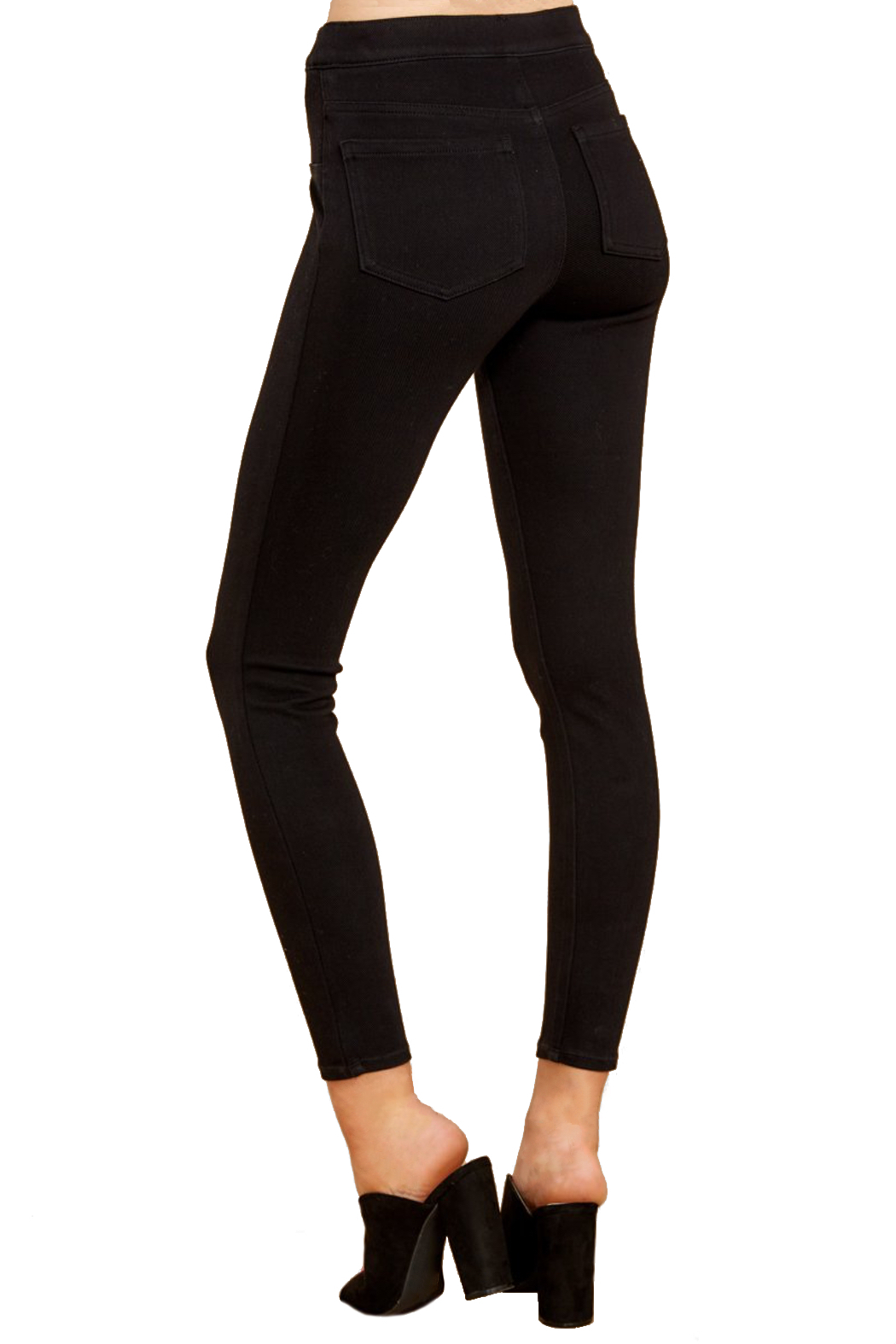 Spanx Jean-ish Ankle Leggings - Back Cropped Image