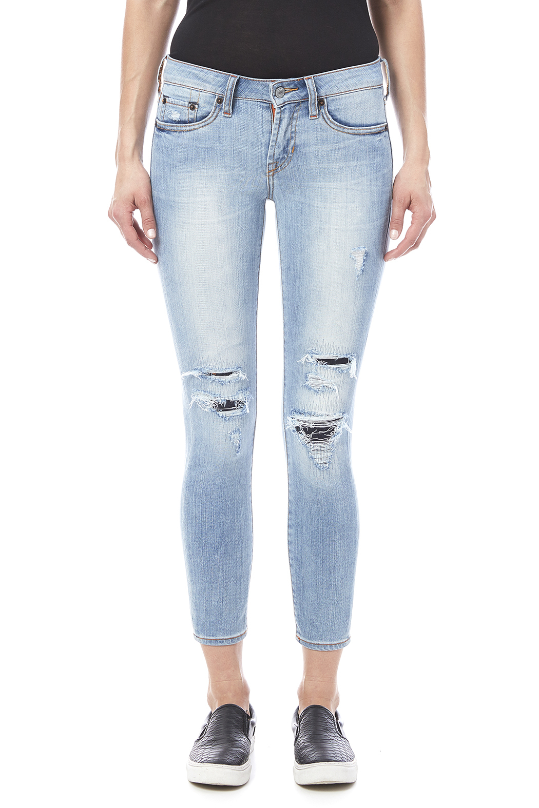 Jean Shop Patty Destroyed Jeans - Side Cropped Image