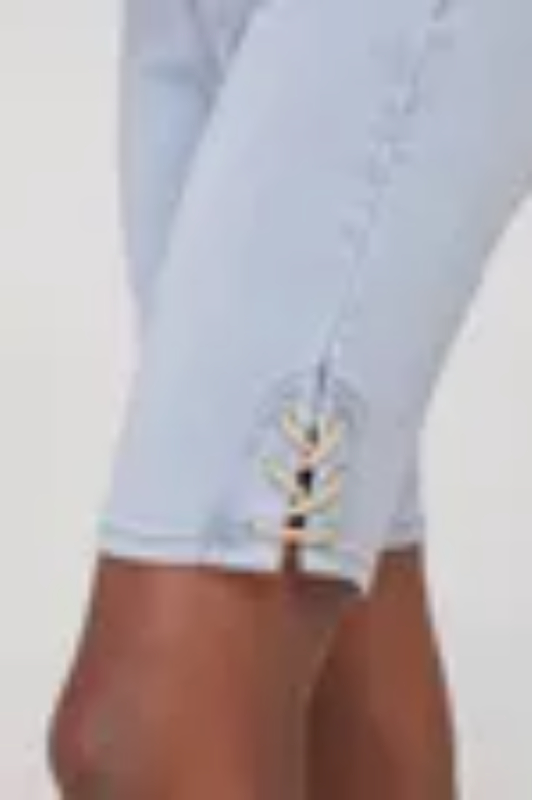 Tribal Jeans Jean Shorts with Side Laces - Front Cropped Image