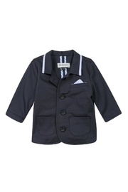 Jean Bourget Herringbone Navy Blazer - Product Mini Image