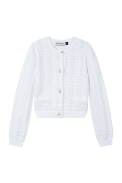 Shoptiques Product: White Knitted Cardigan