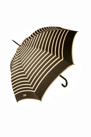 JEAN PAUL GAULTIER Stripes Gray Umbrella - Front cropped