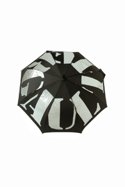 JEAN PAUL GAULTIER Black Stripes Umbrella - Front cropped