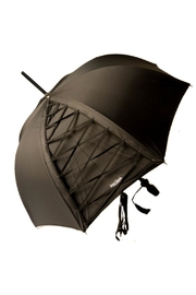 JEAN PAUL GAULTIER Black Umbrella - Front cropped