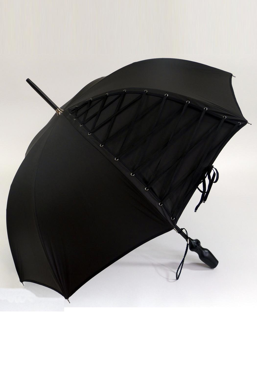 JEAN PAUL GAULTIER Black Umbrella - Side Cropped Image