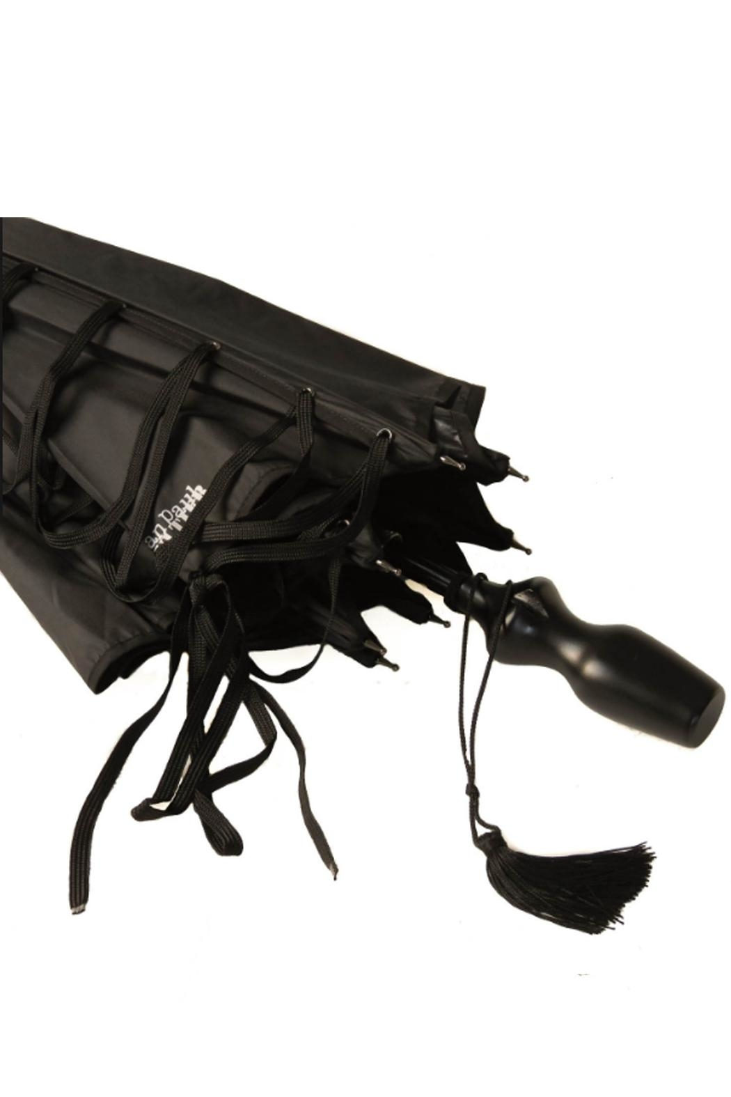 JEAN PAUL GAULTIER Black Umbrella - Front Full Image