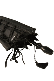 JEAN PAUL GAULTIER Black Umbrella - Front full body