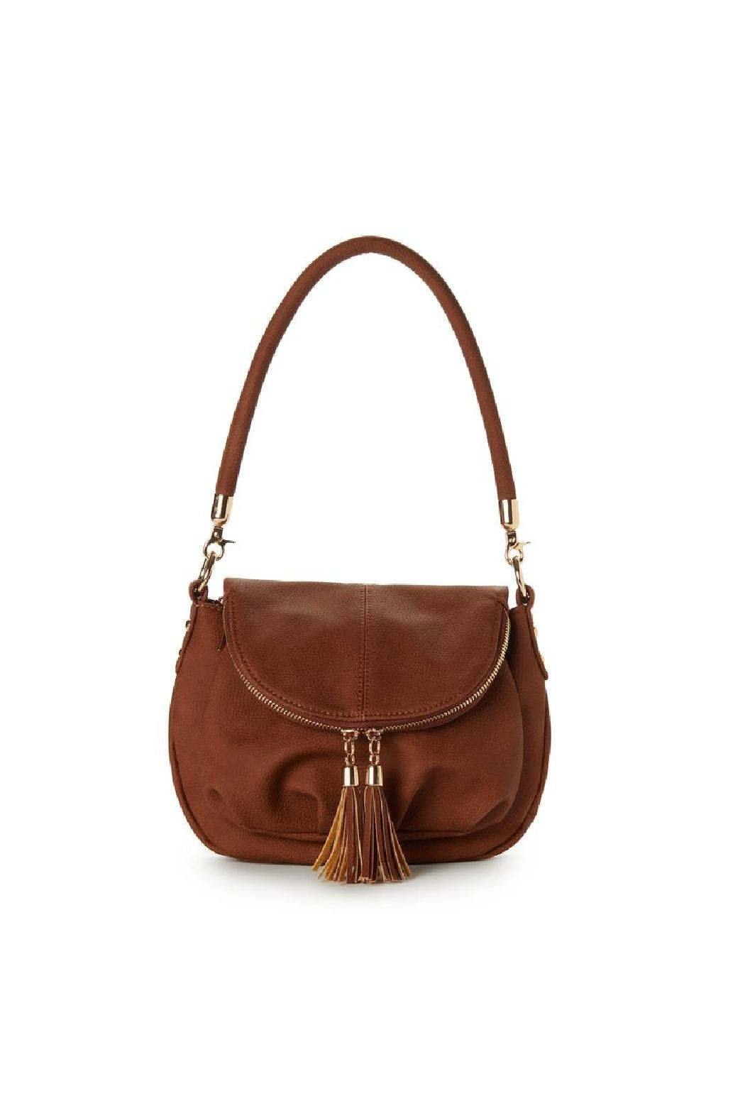 Jeane & Jax Brianna Zip Flap Crossbody - Chestnut - Main Image