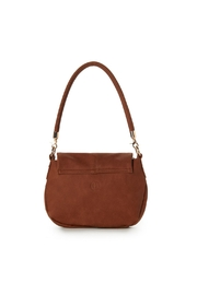 Jeane & Jax Brianna Zip Flap Crossbody - Chestnut - Front full body