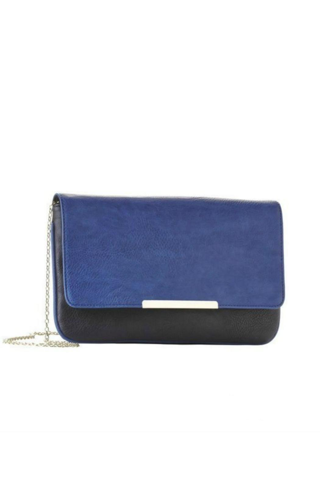Jeane & Jax Color Blocked Clutch - Side Cropped Image