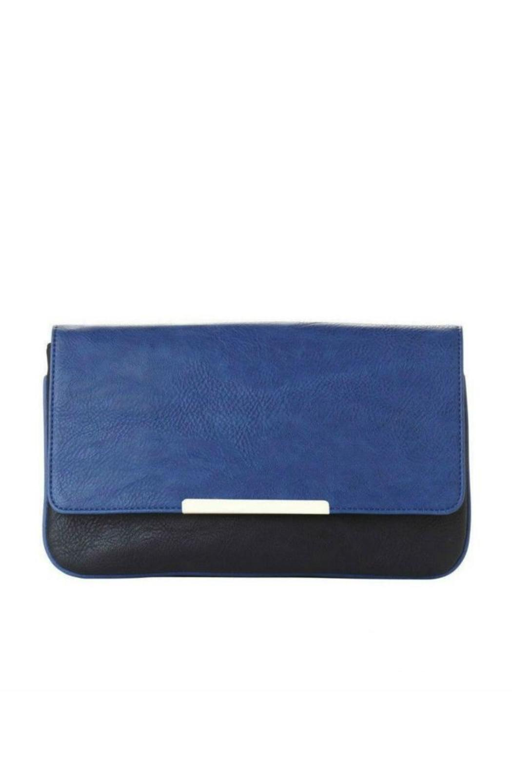 Jeane & Jax Color Blocked Clutch - Front Cropped Image