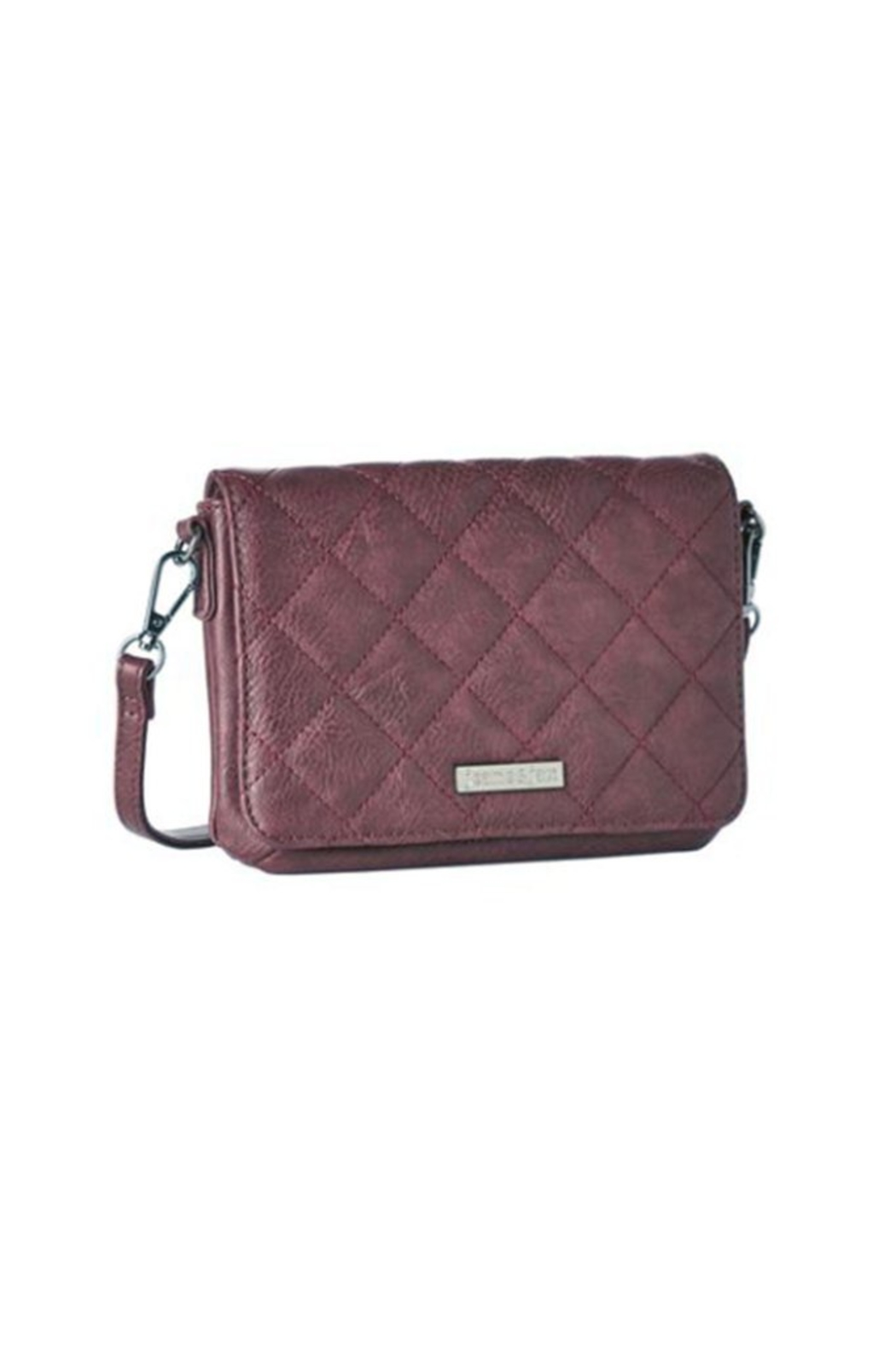 Jeane & Jax Vegan Quilted Mini Crossbody Purse - Front Cropped Image