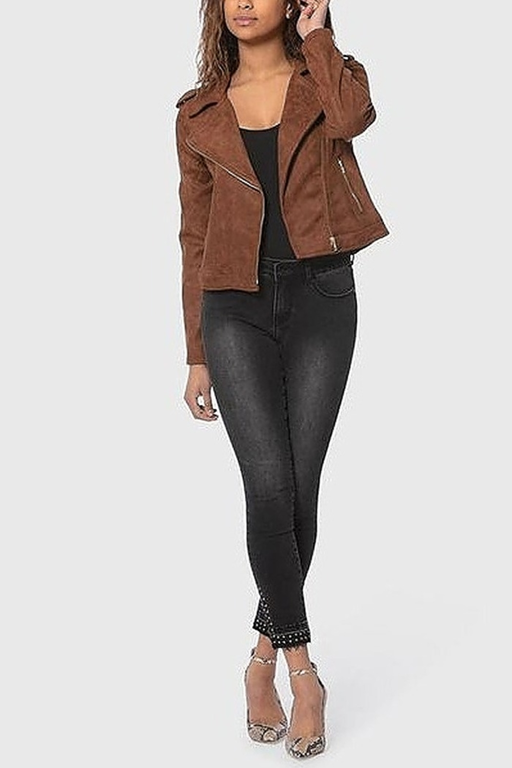 LOLA JEANETTE CLASSIC SUEDE JACKET - Front Cropped Image