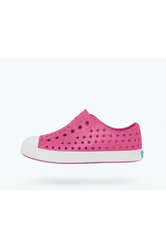 Native Jefferson Big Kid Shoes - Hollywood Pink/Shell White - Alternate List Image