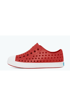 Native Jefferson Big Kid Shoes - Torch Red/Shell White - Alternate List Image