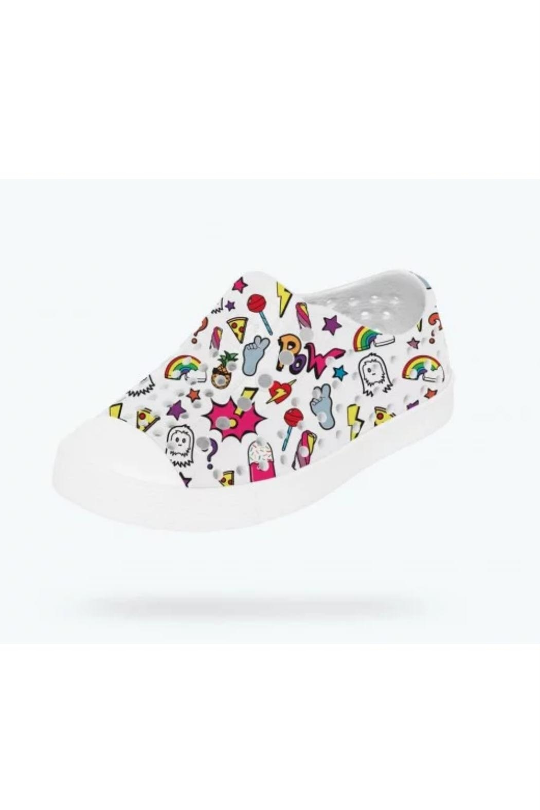 Native Youth Jefferson Stickerbook Slip-On - Front Full Image