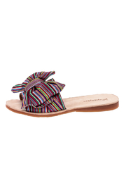 Jeffrey Campbell Colorful Canvas Slippers - Front cropped