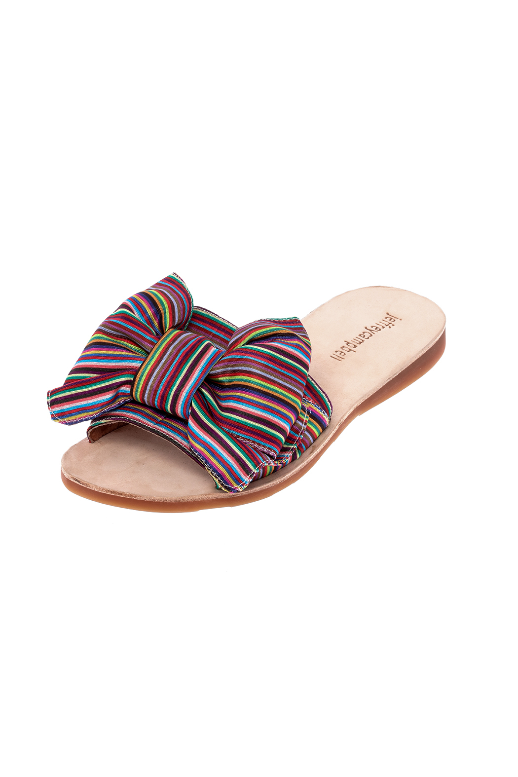 Jeffrey Campbell Colorful Canvas Slippers - Back Cropped Image
