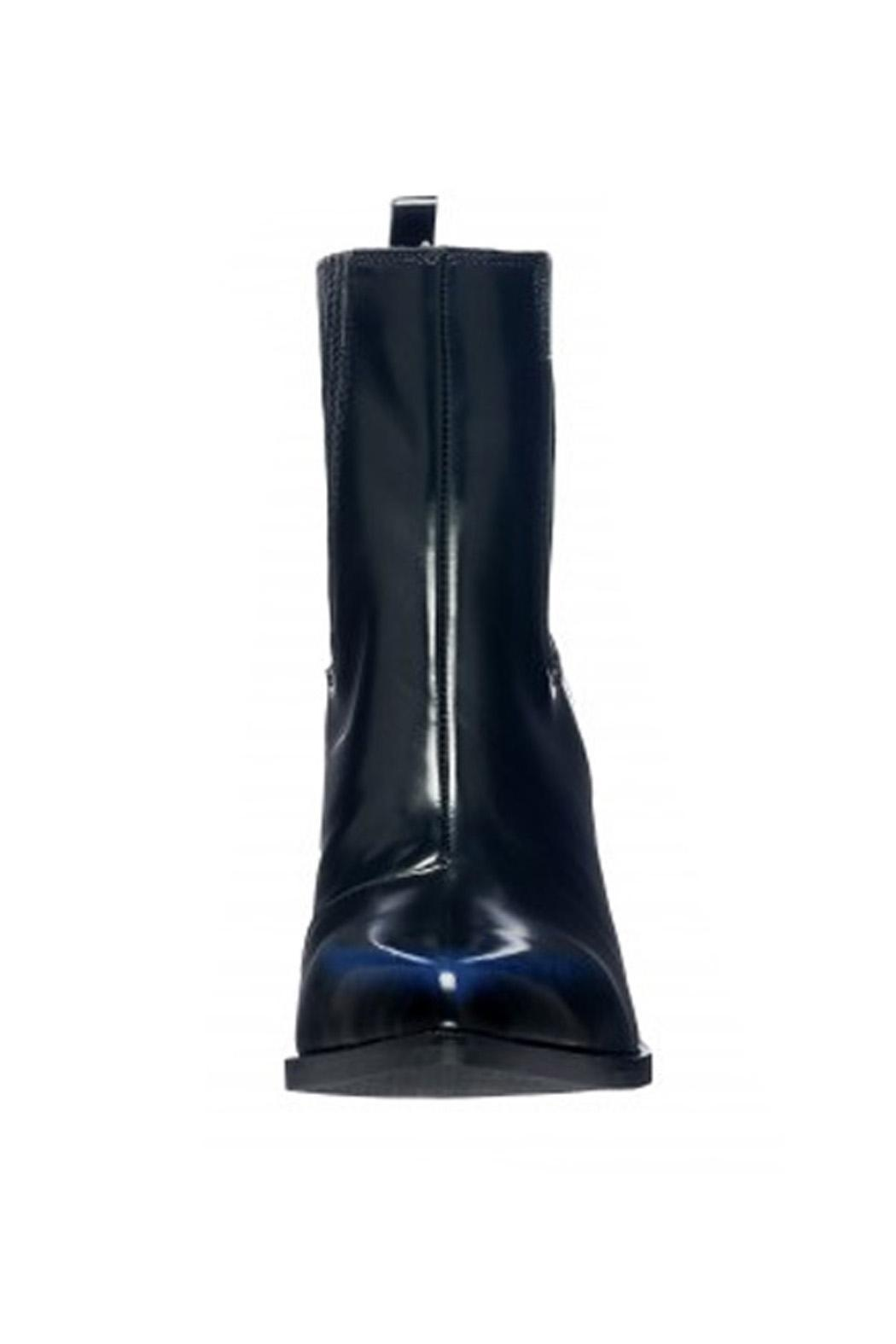 Jeffrey Campbell Black-Navy Western Boot - Back Cropped Image