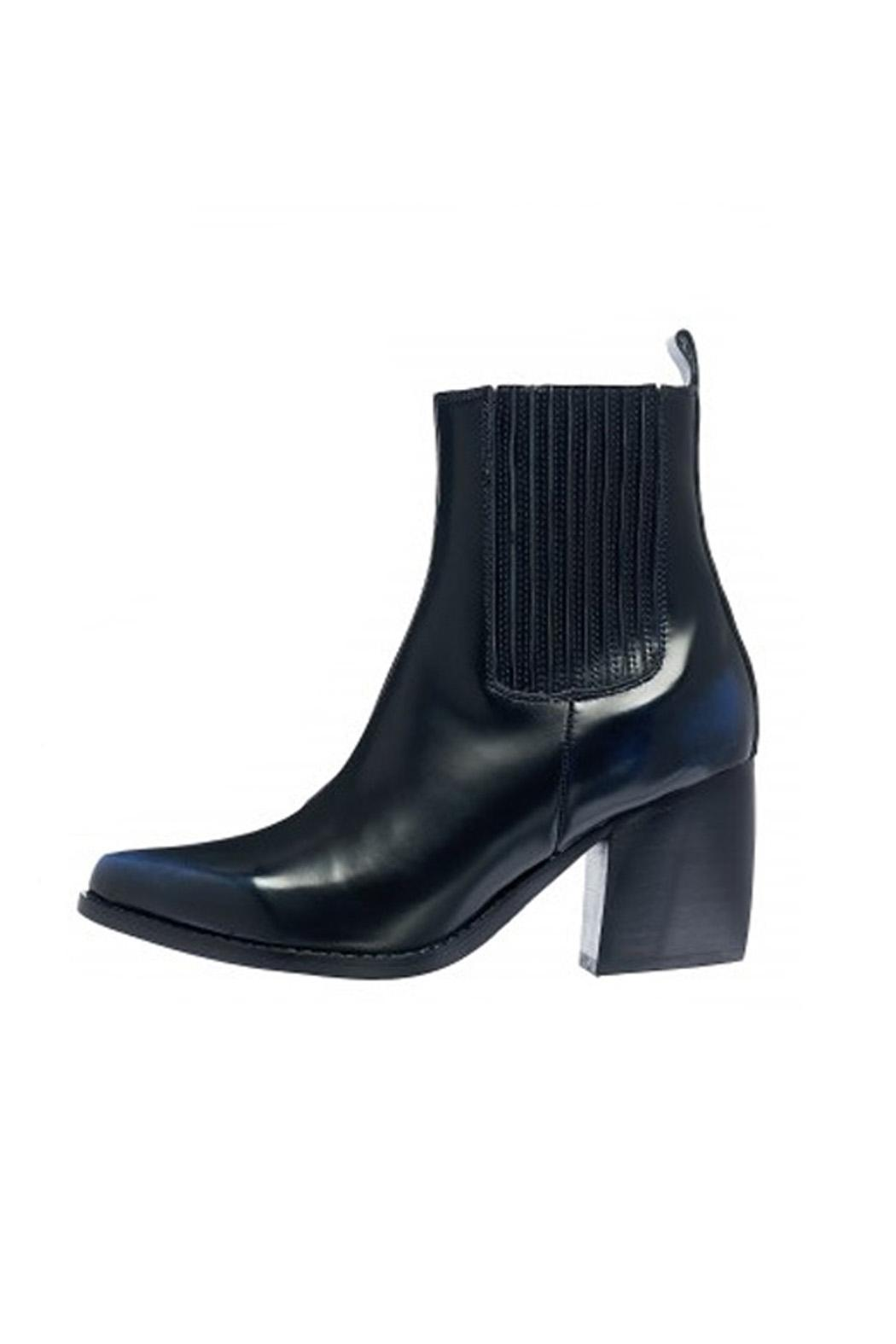 Jeffrey Campbell Black-Navy Western Boot - Main Image