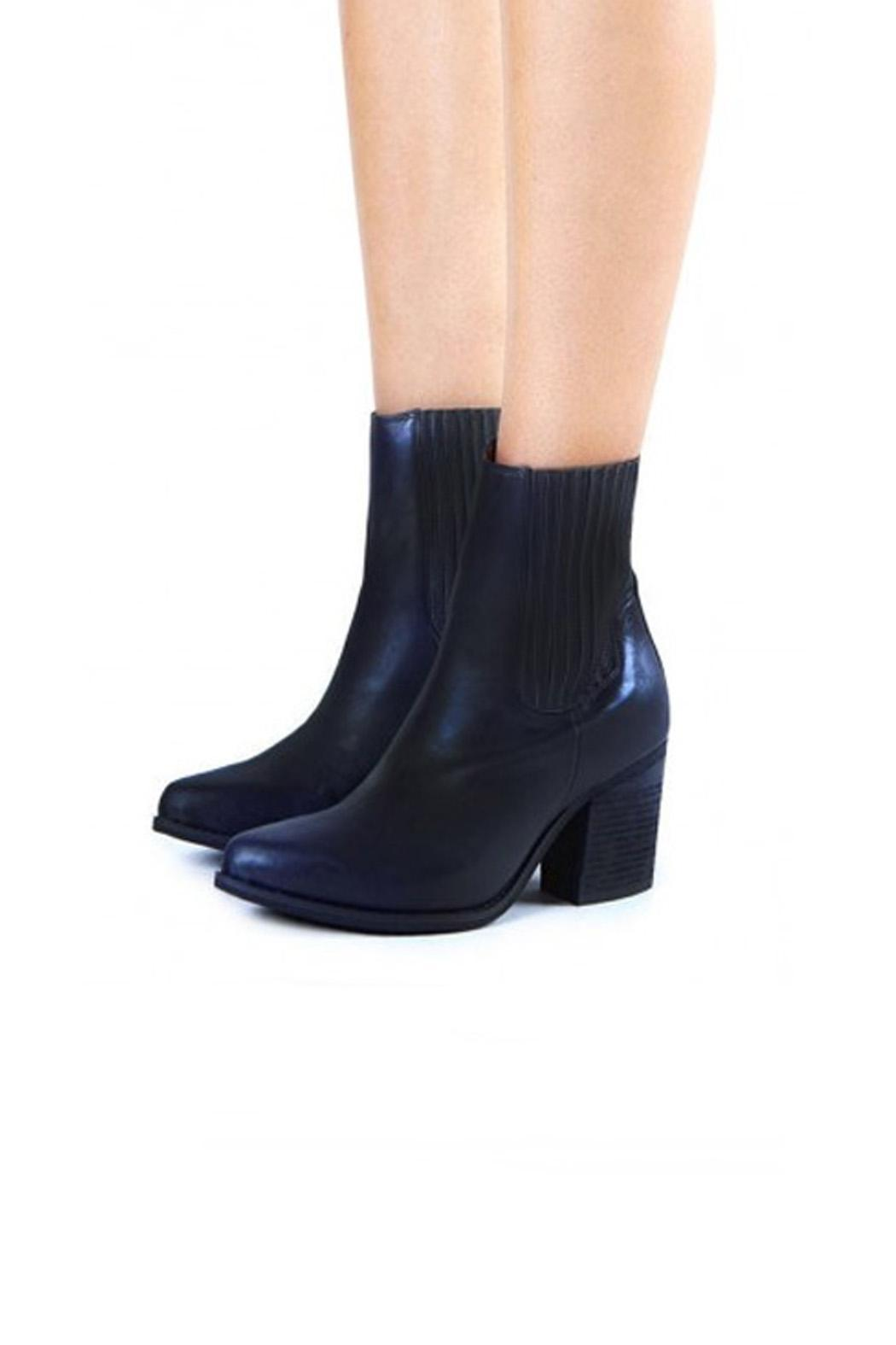 Jeffrey Campbell Black-Navy Western Boot - Front Full Image