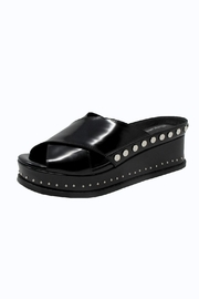 Jeffrey Campbell Black Studded Slide - Product Mini Image