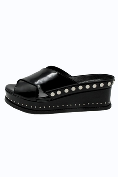 Jeffrey Campbell Black Studded Slide - Alternate List Image
