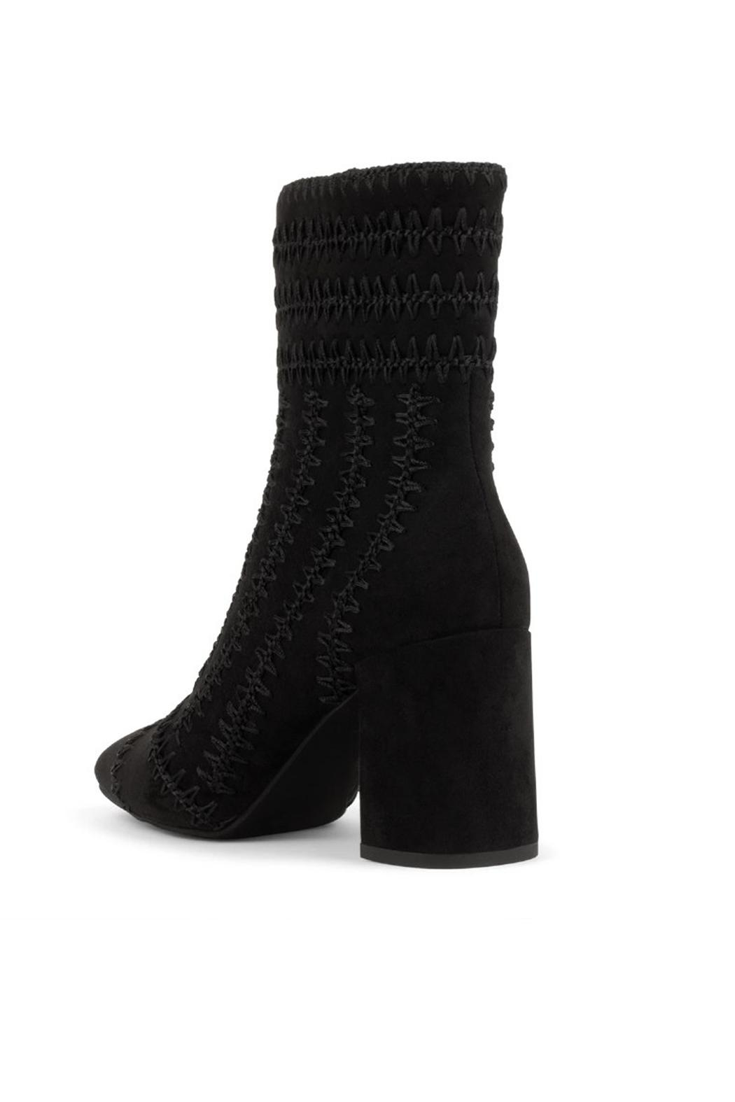Jeffrey Campbell Black Suede Bootie - Front Full Image