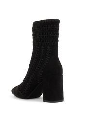Jeffrey Campbell Black Suede Bootie - Front full body