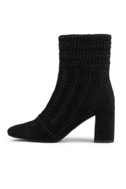 Jeffrey Campbell Black Suede Bootie - Product Mini Image