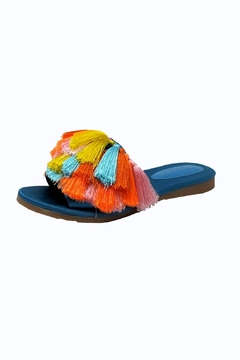 Shoptiques Product: Blue Tassel Slides