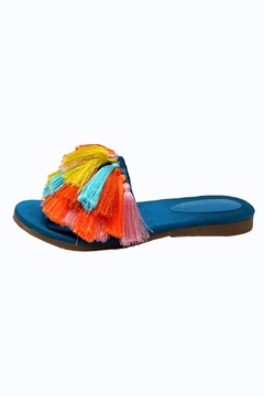 Jeffrey Campbell Blue Tassel Slides - Alternate List Image