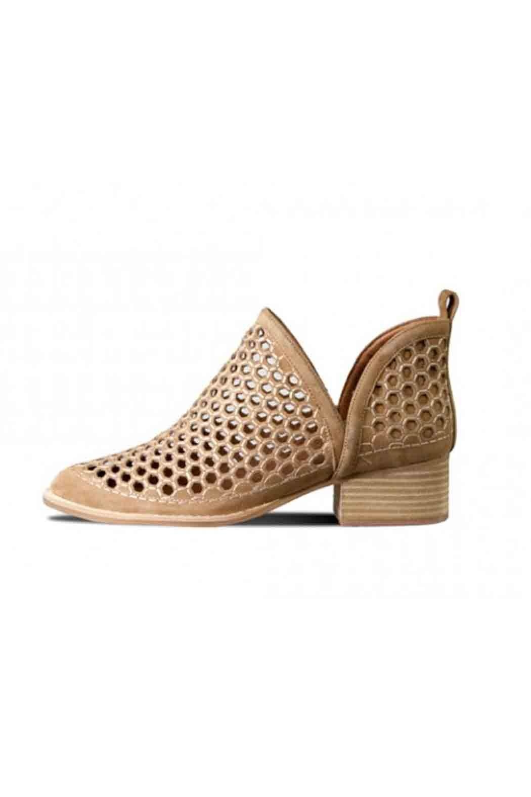 Jeffrey Campbell Camel Suede Bootie - Front Full Image