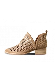 Jeffrey Campbell Camel Suede Bootie - Front full body