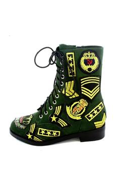 Jeffrey Campbell Dunlop Military Patches Boot - Alternate List Image