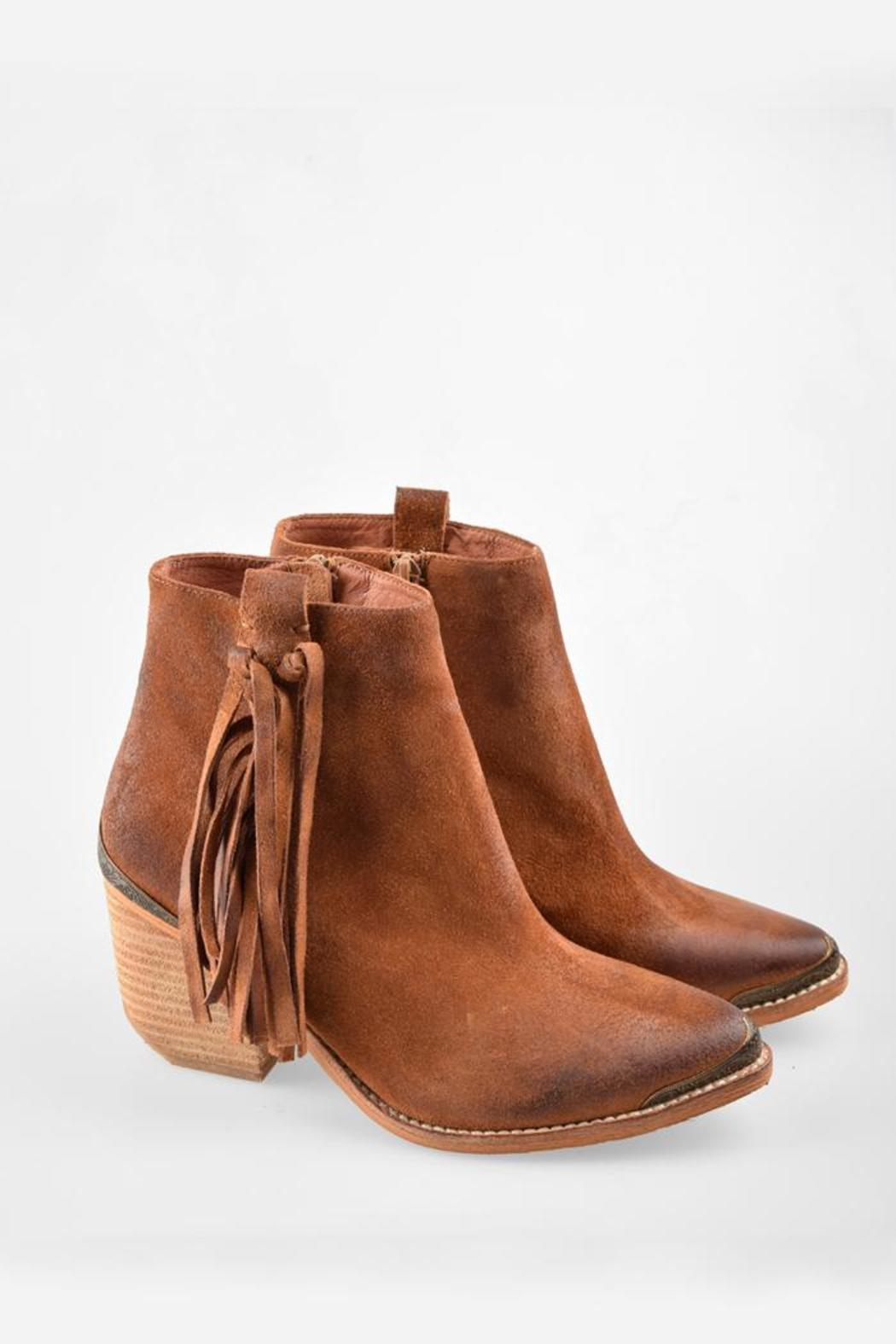 best website 6fc39 21805 Jeffrey Campbell Pascal Fringe Bootie from California by ...