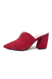 Jeffrey Campbell Red Slide Mule - Front cropped