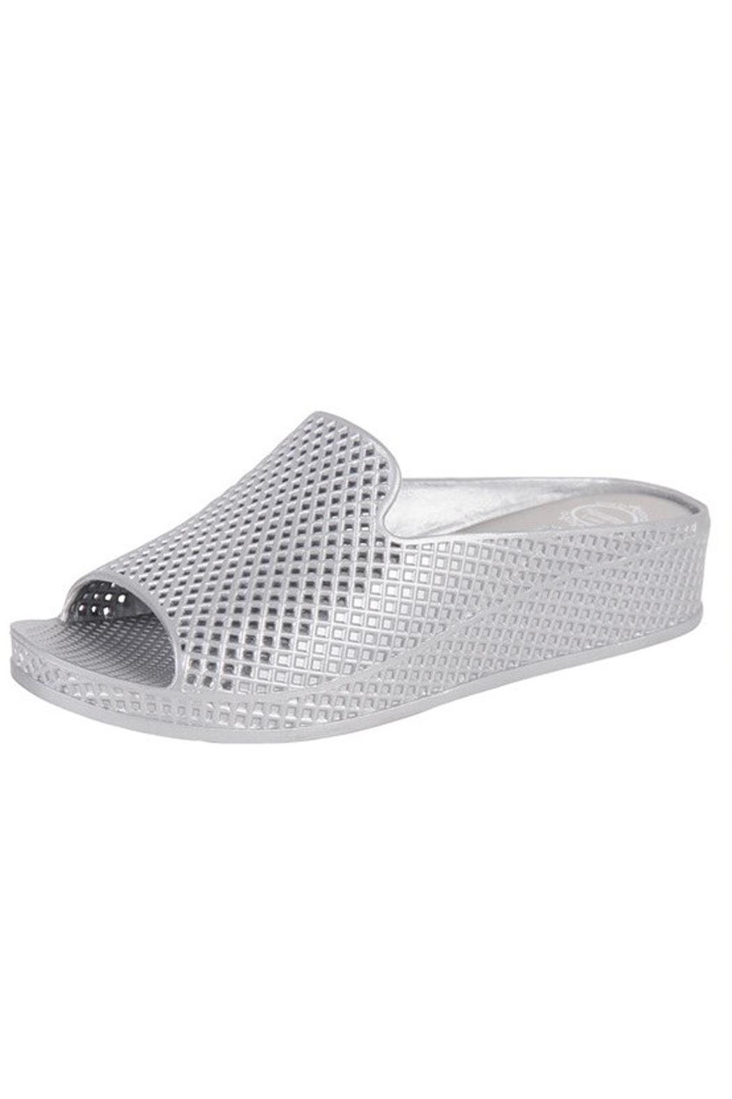 Jeffrey Campbell Silver Slip On Wedge - Main Image