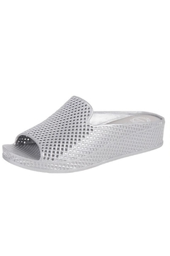 Jeffrey Campbell Silver Slip On Wedge - Product List Image