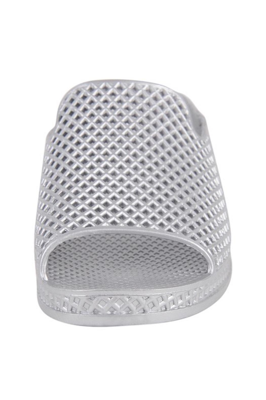 Jeffrey Campbell Silver Slip On Wedge - Front Full Image