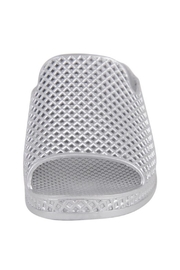 Jeffrey Campbell Silver Slip On Wedge - Front full body