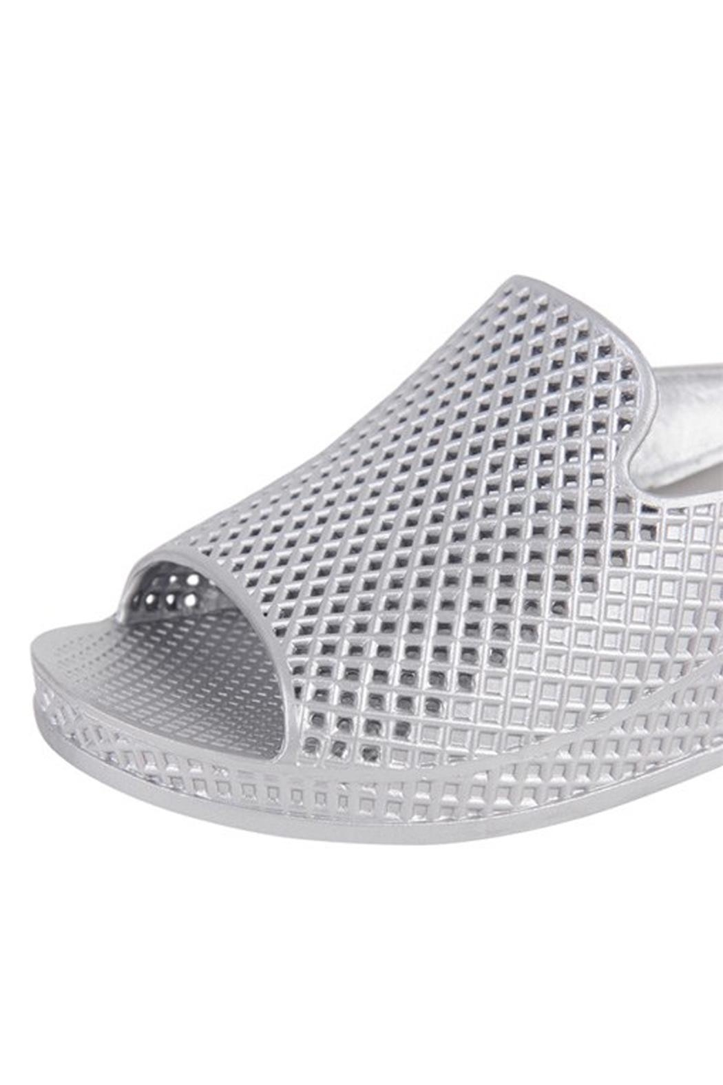 Jeffrey Campbell Silver Slip On Wedge - Side Cropped Image